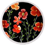 A Gift For Mom Round Beach Towel