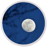 Hello Moon Round Beach Towel