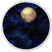 Hello Pluto Round Beach Towel
