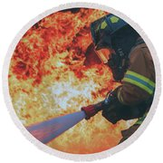 Hell's Acre  Round Beach Towel