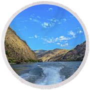 Hells Canyon 01 Round Beach Towel