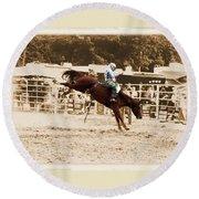 Helluva Rodeo-the Ride 4 Round Beach Towel