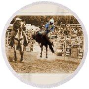 Helluva Rodeo-the Ride 5 Round Beach Towel