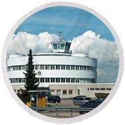 Helsinki - Malmi Airport Building Round Beach Towel
