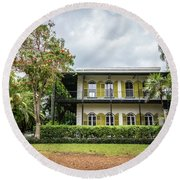 Hemingway House, Key West, Florida Round Beach Towel