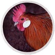 Hen Chicken, Digital Paint Round Beach Towel