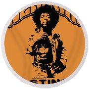 Hendrix 1967 Round Beach Towel