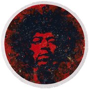 Hendrix Round Beach Towel