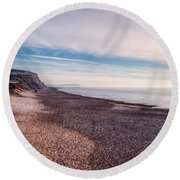 Hengistbury Head And Beach Round Beach Towel