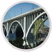Henley Street Bridge II Round Beach Towel