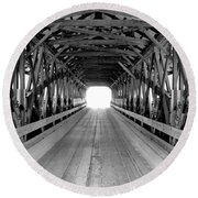 Henniker Covered Bridge Round Beach Towel