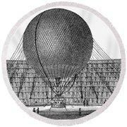 Henri Giffard: Balloon Round Beach Towel