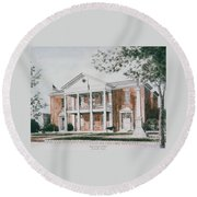Henry County Courthouse Round Beach Towel
