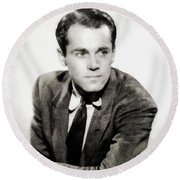 Henry Fonda, Hollywood Legend Round Beach Towel