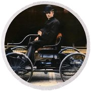 Henry Ford, 1863-1947 Round Beach Towel