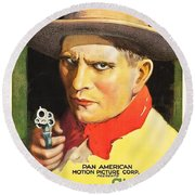 Henry Starr In A Debtor To The Law 1919 Round Beach Towel