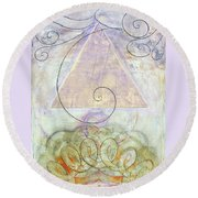 Her Craft And Wind Round Beach Towel
