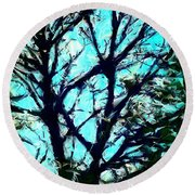 Her Perfect Tree Round Beach Towel