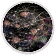 Herbaceous Round Beach Towel