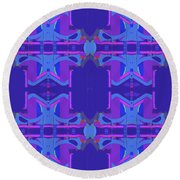 Herbern Blue Round Beach Towel