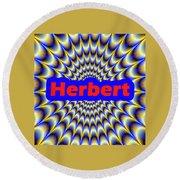Herbert Round Beach Towel