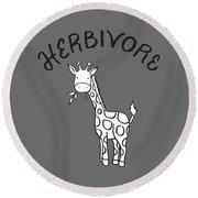 Herbivore Round Beach Towel