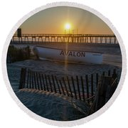 Here Comes The Sun - Avalon New Jersey Round Beach Towel