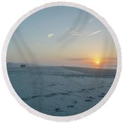 Here Comes The Sun - Wildwood Crest Round Beach Towel