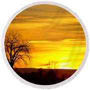 Here Comes The Sunrise Round Beach Towel