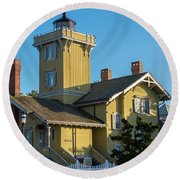 Hereford Inlet Lighthouse Round Beach Towel