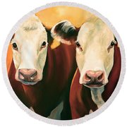 Herefords Round Beach Towel