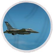 Heritage Flight Of F16 And P51 Round Beach Towel