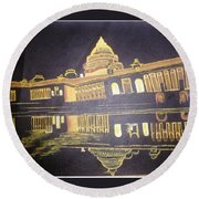 heritage of india - The president house Round Beach Towel