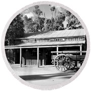 Heritage Town Of Echuca - Victoria Australia Round Beach Towel