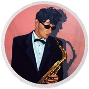 Herman Brood Round Beach Towel