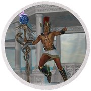 Hermes Messenger To The Gods Round Beach Towel