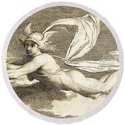 Hermes With Caduceus, 1791 Round Beach Towel