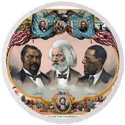 Heroes Of The Colored Race  Round Beach Towel