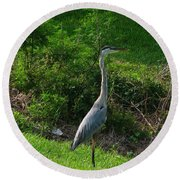 Heron Blue Round Beach Towel