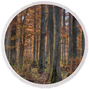 Heron Pond Dawn Round Beach Towel
