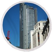 Heron Tower Round Beach Towel