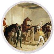 Herring, Racing, 1845 Round Beach Towel