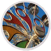 Hershey Ferris Wheel Of Color Round Beach Towel