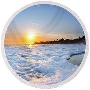 Hesler Sunset Round Beach Towel