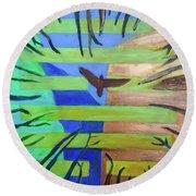 Hexagram-57-xun-penetrating-wind- Round Beach Towel