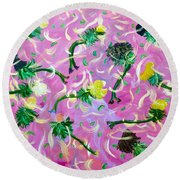 Hey Sole Sister II Round Beach Towel
