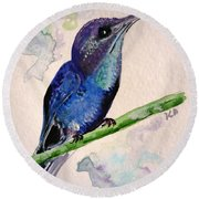 hHUMMINGBIRD 2   Round Beach Towel