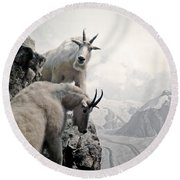 Hi We Are The Mountain Goats Round Beach Towel