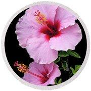 Hibiscus 7 V1 Round Beach Towel