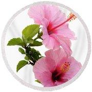Hibiscus 7 V3 Round Beach Towel